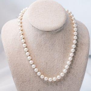 Vintage - Faux Pearl Necklace